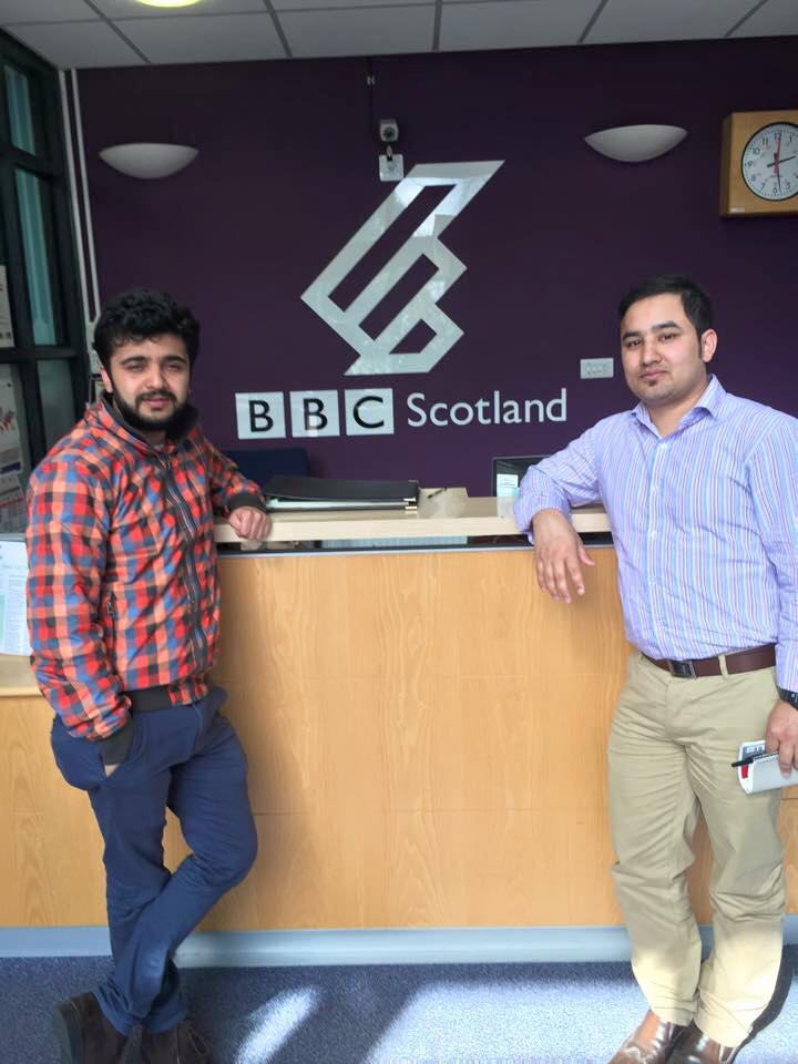 Trustee Members Santosh Gaihre and Nishchal Karki  interviewed for BBC Radio Scotland Programme 30th April 2015