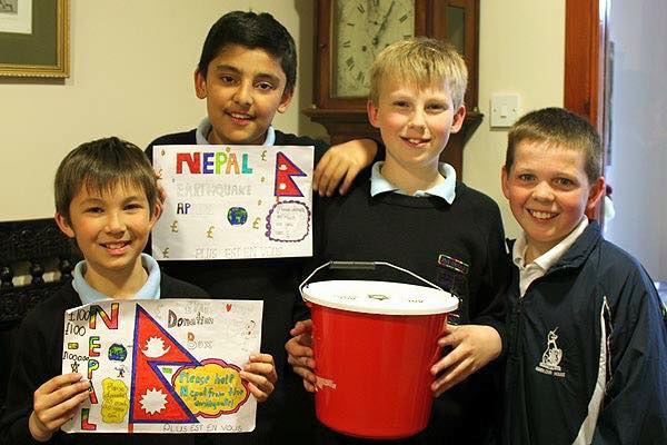 Arjav and his friends in fundraising
