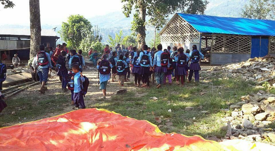 school bag and stationaries distribution dhading